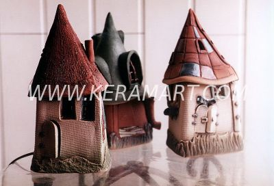 "Сувенир из керамики - Ночник ""Домик"""