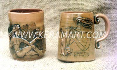 Сувенир из керамики - Кружка