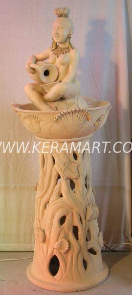 Фонтан декоративный напольный со скульптурой