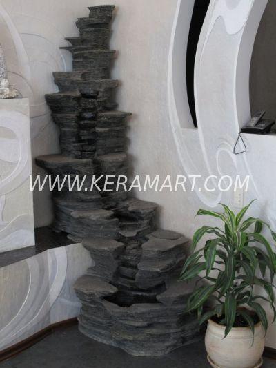 Пристенный напольный декоративный домашний водопад.