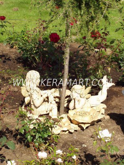 Фигурки эльфов. Садовая скульптура из керамика. Эльфийский разговор.