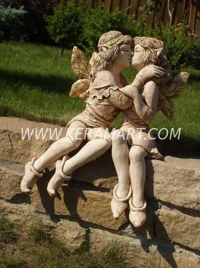 Скульптура для сада - Эльфы. Керамика в стиле фэнтези.