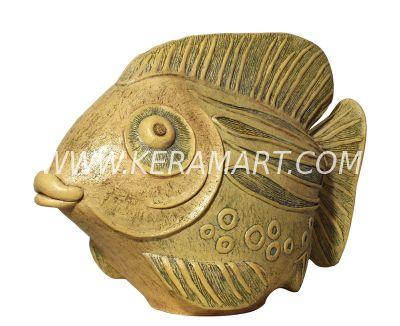 Скульптура из керамики - Рыба