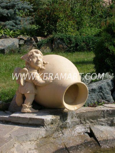 Скулптура для сада - Эльф с кувшином