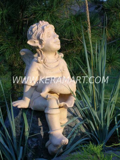 Скульптура - Эльф с ракушкой