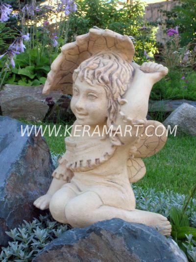 Садовая скульптура - Эльф с листком