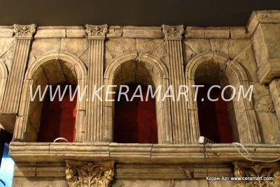 Арочные своды окон, оформление интерьера ночного клуба Рим