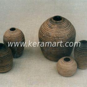 Декоративная ваза в этническом стиле - Осиное гнездо
