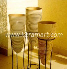 Декоративные керамические вазы - кашпо для оформления интерьера