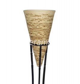 Декоративная ваза - кашпо конусообразной формы с рельефным рисунком