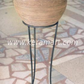 Керамический цветочный горшок - Рельефный