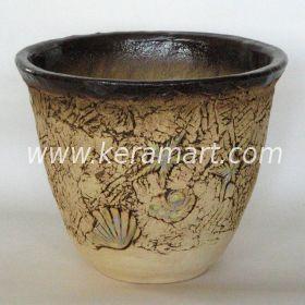 Керамическое кашпо для цветов - Ракушка