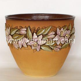 Цветочный горшок из керамики - Орхидеи