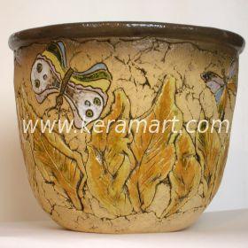 Керамическое кашпо для цветов - Бабочка