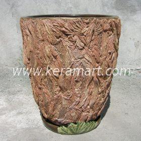Керамическое кашпо для цветов - Кора
