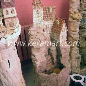 """декоративный водопад """"замок на скале"""""""
