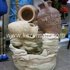 """Декоративный настольный фонтан """"Три амфоры"""" ручной работы, амфоры выполнены на гончарном круге"""