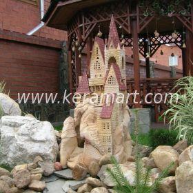 """Декоративный элемент для оформления садового ручья - фонтана """"Замок на скале"""""""