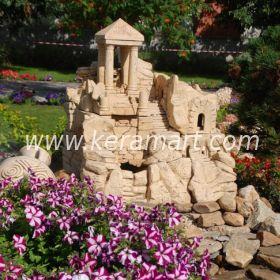 Источник для ручья (садового фонтана - водопада) древние развалины. Для устройства декоративный садового ручья. Оформление садового водоема - развалины замки.