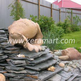 Скульптура морской раковины для частного ландшафта, участка