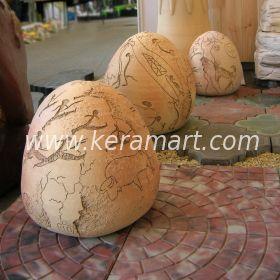 Скульптура из керамики - Древние яйца